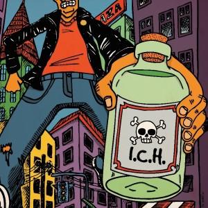 Arte da capa do disco Antes tarde do que nunca___Ilustração Dr Insekto[2]