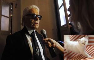 Karl Lagerfeld, de 79 anos, disse que gostaria de se casar com sua gata de estimação