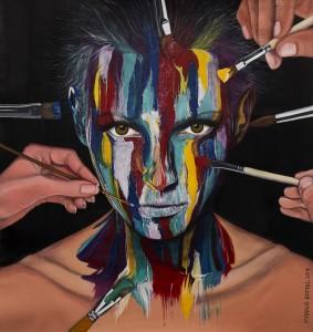 Paint Me, obra de Mirele Riffel, que integra a exposição. Foto: Fernando Engllert