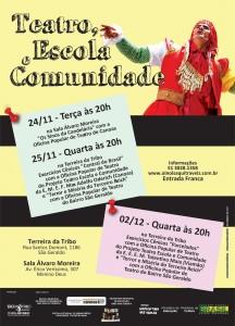 jpg teatro, escola e comunidade   cartaz A3 viamão E CANOAS