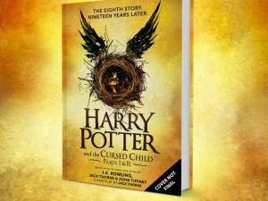 Capa provisória do livro com o roteiro da peça de teatro que seria a 8ª história de Harry Potter