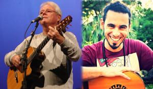 Raul Ellwanger ( Foto Rosana Azevedo ) e Leo Sosa ( Foto Cris Cubas ) no Projeto Sons da Cidade