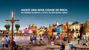 A nova Cidade do Rock instalada no Parque Olímpico do Rio de Janeiro.