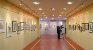 """Exposição de aquarelas """"Enfoques Diversos - Fachadas"""", do Atelier Laky Gatti."""